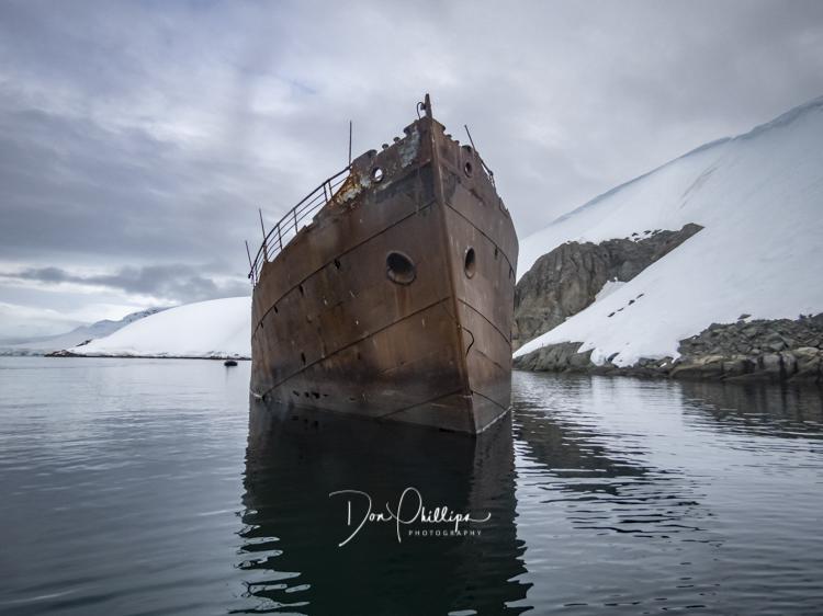 Shipwreck in Antarctica